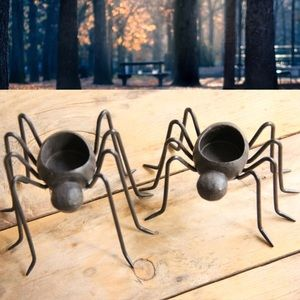 Halloween Spider Candle Holders by Pottery Barn 2p